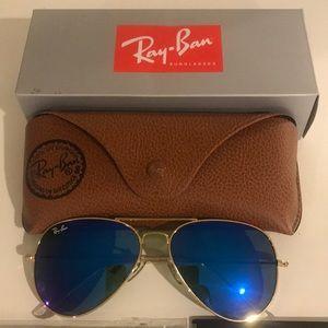 Blue RayBan Aviator Sunglasses
